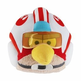 """Angry Birds Star Wars 6"""" jouet en peluche officiel de la série 2 - Luke Skywalker (casque X-Wing)"""