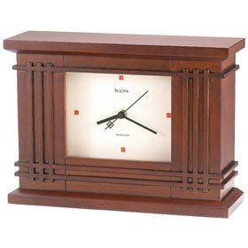 Bulova Martin Wood Clock Frank Lloyd Wright