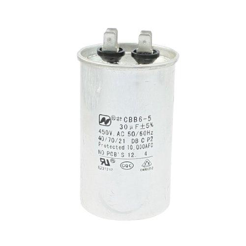 Cylindrical Polypropylene Film Air-condition CBB6-5 Motor Capacitor AC 450V 30uF