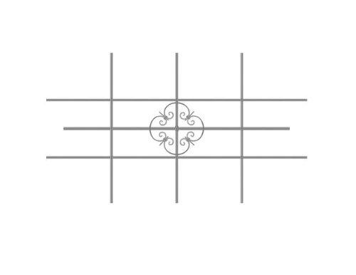GAH-Alberts 553548 Fenstergitter Salzburg, feuerverzinkt, 1140 x 690 mm, kürzbar bis 590 x 390 mm