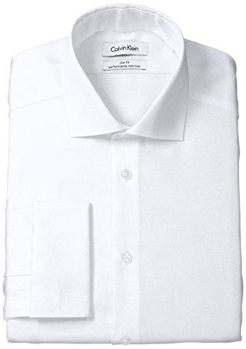 Calvin-Klein-Mens-Non-Iron-Slim-Fit-Herringbone-French-Cuff-Dress-Shirt