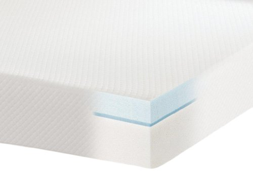 Sensorpedic Luxury Extraordinaire 3-Inch Quilted Memory Foam Mattress Topper, California King Size, White front-432949