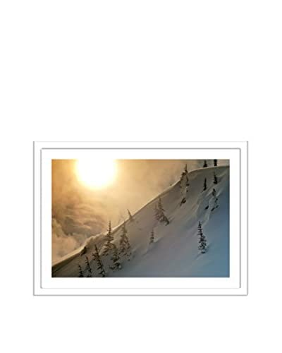 Getty Images Skier On Mountain At Sunset