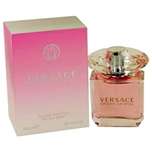 Versace Bright Crystal Eau de Toilette Spray for Women, 1.0 Fluid Ounce