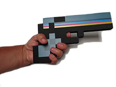 8 Bit Pixelated Black Stone Foam Gun Toy 10 from 8BIT TOYS