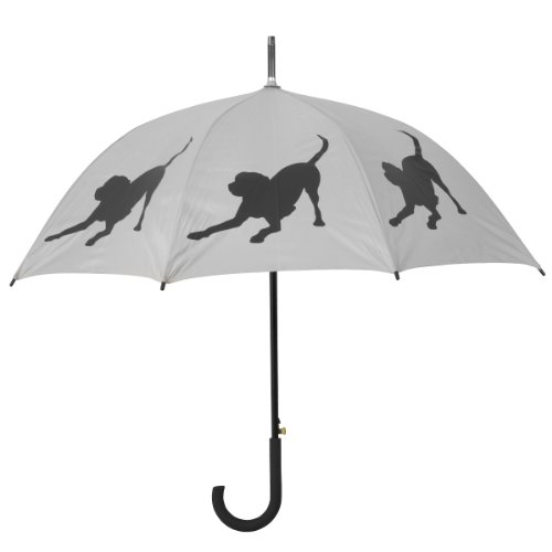 labrador-retriever-dog-silhouette-walking-stick-rain-umbrella-silver-black