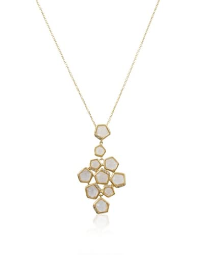 Riccova Clear Faceted Stones Cluster Pendant Necklace