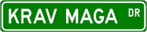 Krav Maga Street Sign ~ Martial Arts Gift ~ Aluminum – 4 x 18 inches