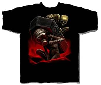 Gas Mask Grave Halloween T-Shirt Size XX-Large