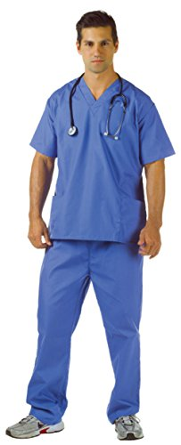 Underwraps Mens Doctors Nurses Blue Scrubs Theme Party Medical Costume