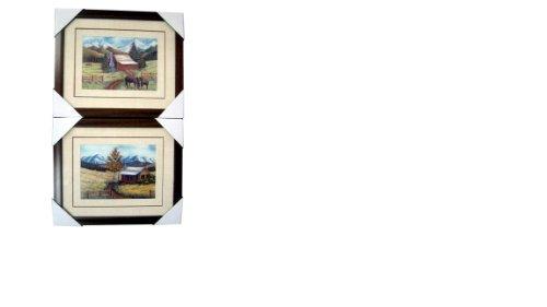 Country Cabin Framed Artwork 2/A
