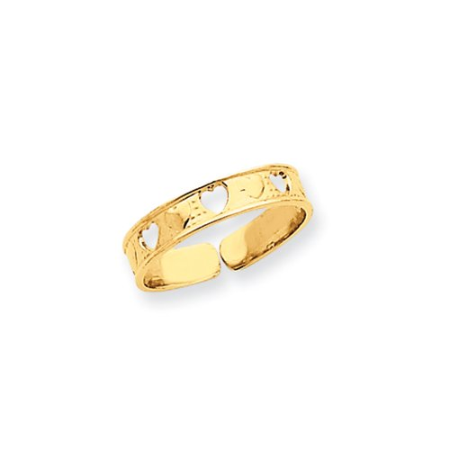 Sweethearts Toe Ring in 14 Karat Gold