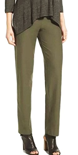 Eileen Fisher Plus Washable Stretch Crepe Slim Ankle Pant 2X Oregano Green