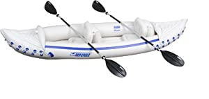 Buy Sea Eagle Inflatable Kayak with Paddles, Blue White by Sea Eagle