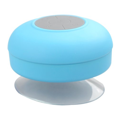 Flylinktech® Waterproof Mini Portable Shower Speaker Bluetooth Remote Control For Smart Phones (Blue)