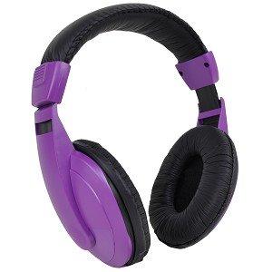 Vibe Sound Vs-750-Dj Noise Reduction Earcup Stereo Headphones (Purple/Black)