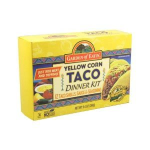 Garden Of Eatin Organic Yellow Corn Taco Dinner Kit, 9.4 Ounce -- 12 per case.