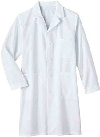 Meta Men's and Women's Unisex 40 Inch Labcoat With Three Outside Pockets And One Inside Pocket (White, XX-Small)