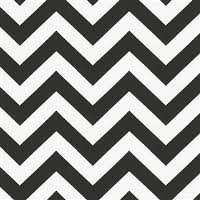 Fleece Throw 50in X 60in Black & White Zig Zag Design