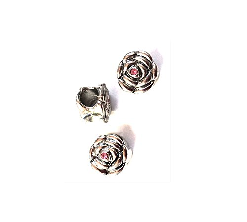 charm-for-pandora-style-bracelets-silver-flower-charm-with-pink-rhinestone