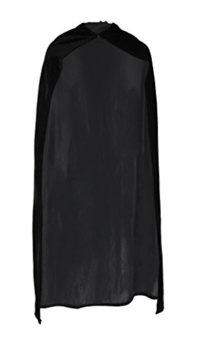 AveryDance Adults 49 Inch Full Lenth Black Velvet Cape Halloween Costume Accessory