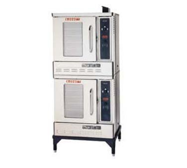 Half Size Gas Convection Oven - Two Base Sections With 7 Inch Stainless Steel Stand And Draft Diverter Or Draft Hood -- 1 Each.