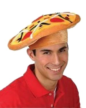 Adult Pizza Costume Hat