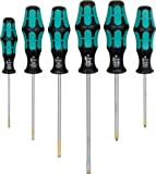 PKE Pro.Spec Wera Lasertip Kraftform Plus Screwdriver 6pc Set - Pozi/Slotted [Pack of 1] [+F6]