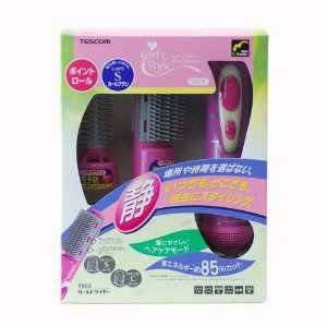 TESCOM Hot Air Brush Hair Curl Dryer 700W