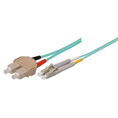 TPFNet Premium 10,00m LWL Kabel – LWL Patchkabel OM3 SC/LC – LWL Multimode Patchkabel OM3 SC/LC – LWL Netzwerkkabel OM3 SC/LC – LWL Duplex Patchkabel OM3 SC/LC – Lichtwellenleiterkabel OM3 SC/LC – Glasfaser-Netzwerkkabel – LWL Fiber Channel (SC Duplex Stecker an LC Duplex Stecker- 50/125µm – für 10 Gigabit/s) – türkis