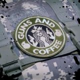 Guns and Coffee Morale Patch ACU Tactical Velcro Backed