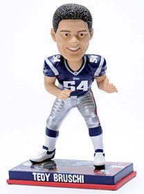 New England Patriots Tedy Bruschi Forever Collectibles Photo Base Bobble Head by Forever