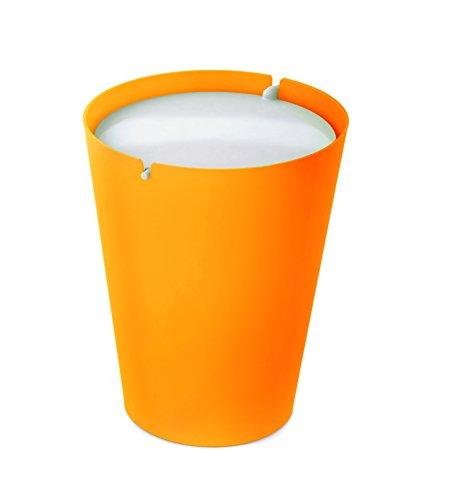 outlook-design-v9g0m00050-smarty-bin-ii-cestino-per-rifiuti-con-coperchio-basculante-arancio