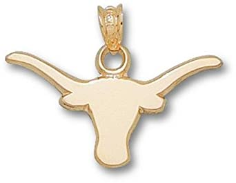 Texas Longhorns Solid Longhorn 3 8 Pendant- 14KT Gold Jewelry by Logo Art