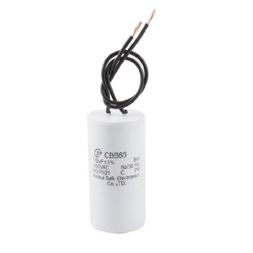 Cbb60 Ac 450V 16Uf 2 Wires Plastic Housing Motor Start Run Capacitor