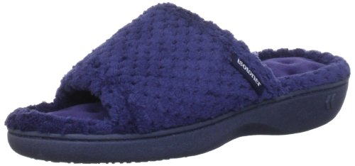 isotoner-popcorn-terry-95311-womens-open-back-slippers-blue-navy-5-uk-38-eu