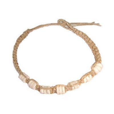 Hawaiian Hemp Puka Shell Bracelet / Anklet