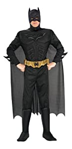 Batman The Dark Knight Rises Adult Batman Costume, Black, X-Large