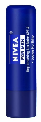 Nivea for Men Replenishing Lip Balm, Broad Spectrum SPF 15 (Pack of 6)