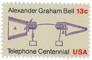 #1683 - 1976 13c Telephone Centennial Plate Block US Postage Stamps