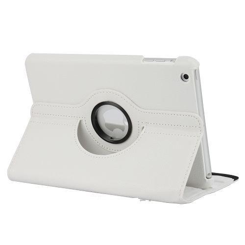 Ipad 2 / Ipad 3 / Ipad 4 / Custodia Magnetica Bianca A Rotazione 360° / Smart Cover In Ecopelle /