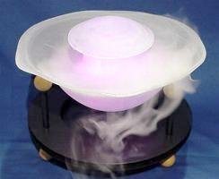 White Table Top Lotus Bowl Fog Fountain Humidiffer