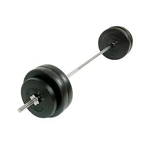 Set haltère long - 56,5 kg - longueur 168 cm - avec disques inclus