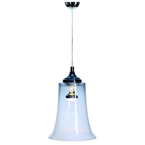 SIGNATURE HOME COLLECTION Deckenhängelampe mit Glasschirm, Hängeleuchte, 21 x 21 x 30 cm, Gesamthöhe maximum 120 cm, Glas durchsichtig CO-118-PA