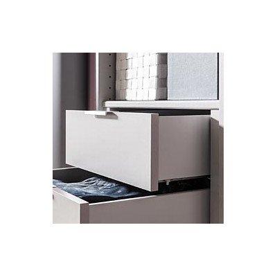 Mobili espresso 95071-975 cassetto incasso per Kleiderscrhank Solutions, larghezza 50 cm con 2 attacchi in argento