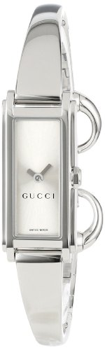 Gucci Women's YA109523 G-Line Silver Dial Watch