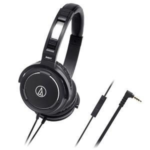 Audio Technica Ath-Ws55I Portable Headphones With Microphone For Ipod/Iphone/Ipad (Japan Import) - Black