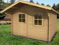 Abri de jardin Sutton avec plancher fabriqués à partir du meilleur épicéa d'Europe du Nord de 20 mm d'épaisseur, certifié FSC, garanti 10 ans. 300x200cm / 20mm