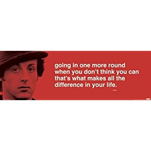 sylvester stallone rocky motivational quote poster 12 x 36