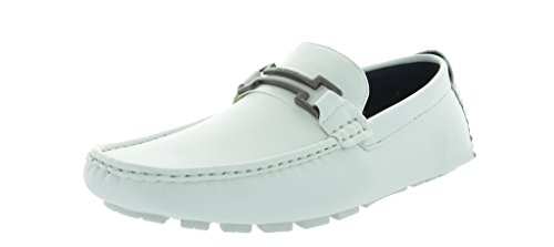 Men's White Italian Loafers available in manu sizes.